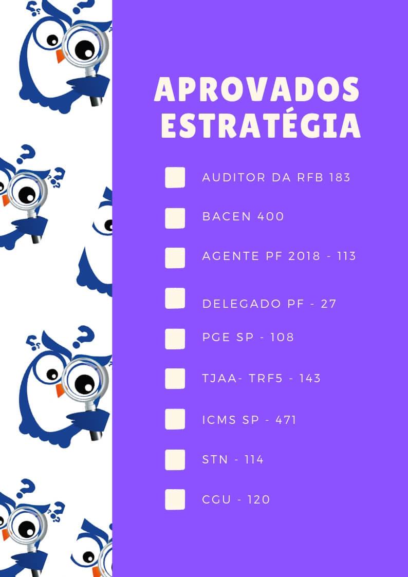 Aprovados Estratégia Concursos