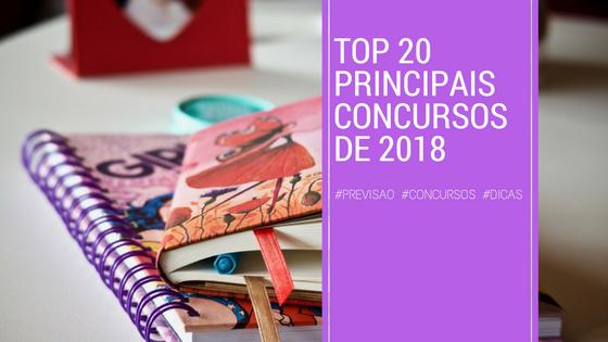PRINCIPAIS CONCURSOS PUBLICOS DE 2018